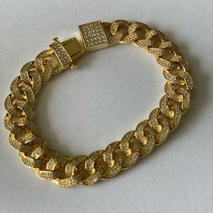Other - New!!! 14k Cuban Link Fully iced out bracelet